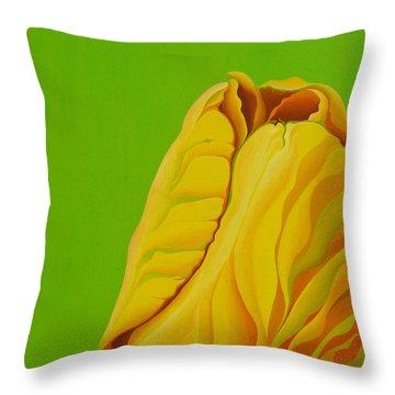Yellow Somebuddy Throw Pillow