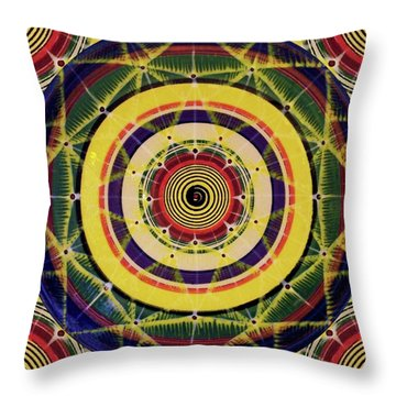Throw Pillow featuring the painting Yellow Spiral by Kym Nicolas