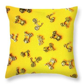 Yellow Summer Transport Throw Pillow