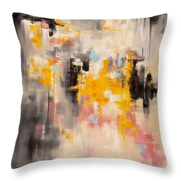 Yellow Sun Throw Pillow by Suzzanna Frank