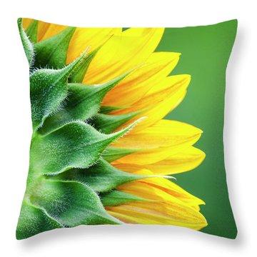 Yellow Sunflower Throw Pillow