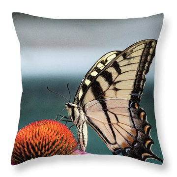 Yellow Swallowtail II Throw Pillow