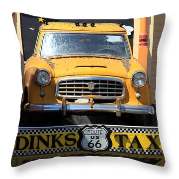 Yellow Taxi Throw Pillow
