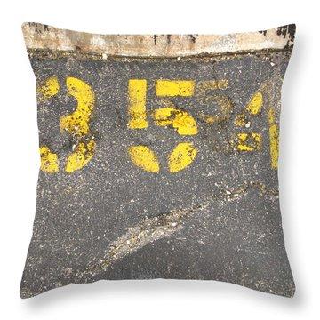 Yellow Three Five Five Four Throw Pillow