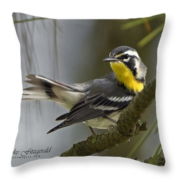 Yellow-throated Warbler Throw Pillow