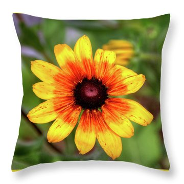 Yellow Tones Throw Pillow