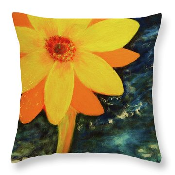 Yellow Treat Throw Pillow
