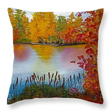 Yellow Tree At Institute Park Throw Pillow by Lynn Babineau
