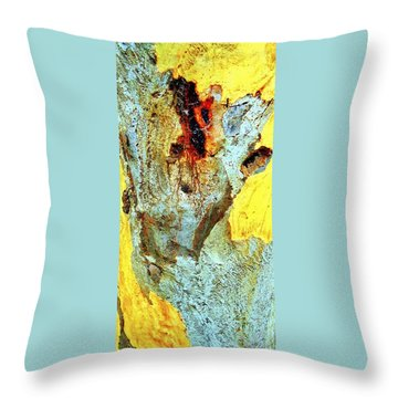 Yellow Tree - And  Ant  Australia Throw Pillow