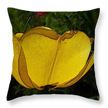 Yellow Tulip 2 Throw Pillow