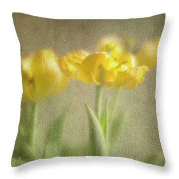 Throw Pillow featuring the photograph Yellow Tulips by Elena Nosyreva