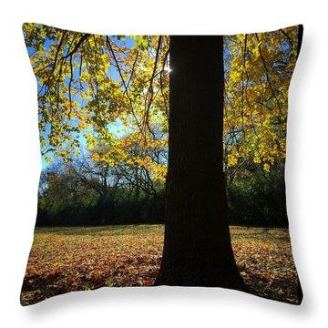 Yellow Veil Throw Pillow