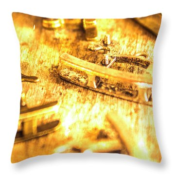 Yellow Weathered Rockers Throw Pillow