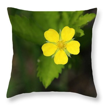 Yellow Wildflower Throw Pillow