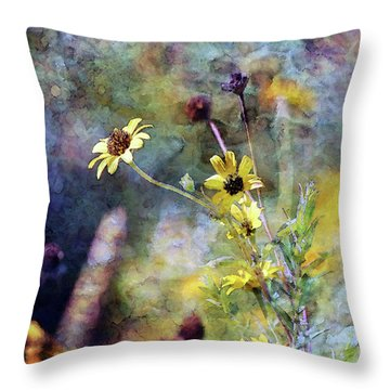 Yellow Wildflowers 3230 Idp_2 Throw Pillow