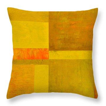 Yellow With Orange Throw Pillow