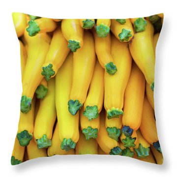 Yellow Zucchini Throw Pillow