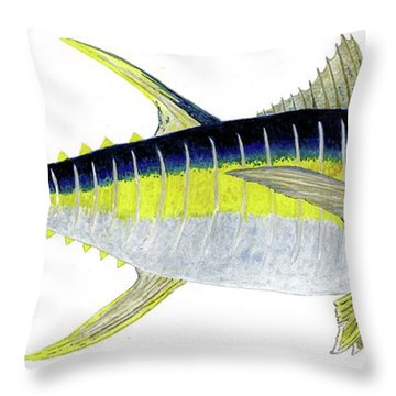 Yellowfin Tuna Throw Pillow