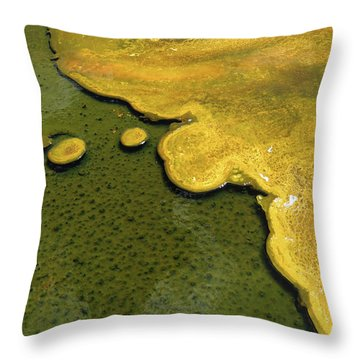 Yellowstone Art. Yellow And Green Throw Pillow