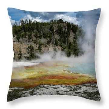 Throw Pillow featuring the photograph Yellowstone Colors #13 by Scott Read