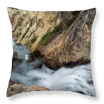 Yellowstone Falls Throw Pillow