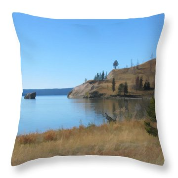 Yellowstone Lake Se Throw Pillow