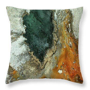 Yellowstone Landscape Throw Pillow