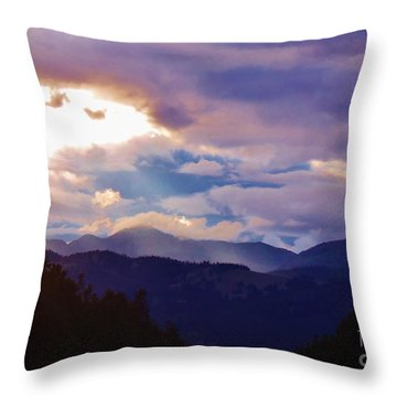 Throw Pillow featuring the photograph Yellowstone by Larry Campbell