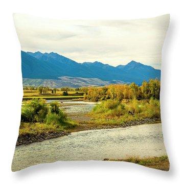 Yellowstone Morning Throw Pillow