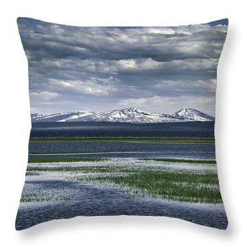 Yellowstone Mountain Scape Throw Pillow