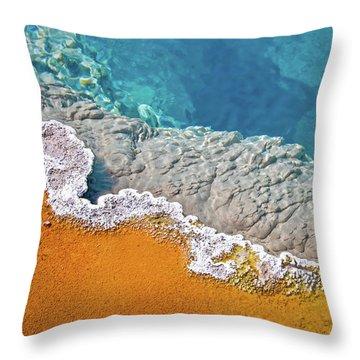 Yellowstone Pool Throw Pillow
