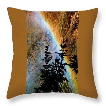 Throw Pillow featuring the photograph Yellowstone Rainbow by Norman Hall