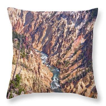 Yellowstone River Throw Pillow
