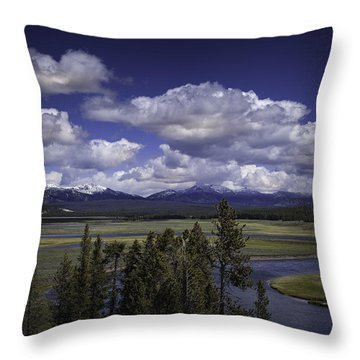 Yellowstone River Throw Pillow