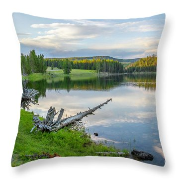 Yellowstone River Off Grand Loop Throw Pillow