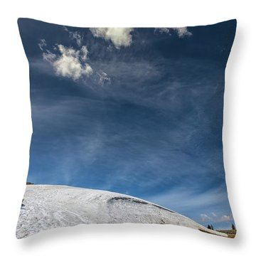 Throw Pillow featuring the photograph Yellowstone Sky by John M Bailey