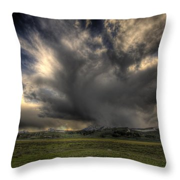 Yellowstone Storm Throw Pillow