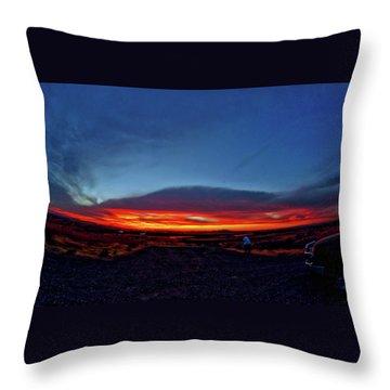 Yellowstone Sunset Throw Pillow