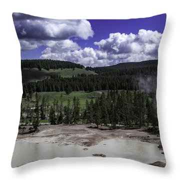 Throw Pillow featuring the photograph Yellowstone Tar Pits by Jason Moynihan