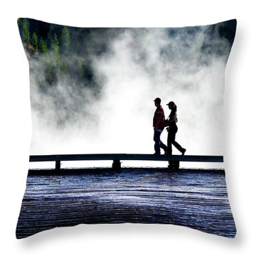 Yellowstone Walkers Throw Pillow