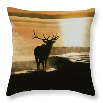 Yellowstone's Monarch Throw Pillow