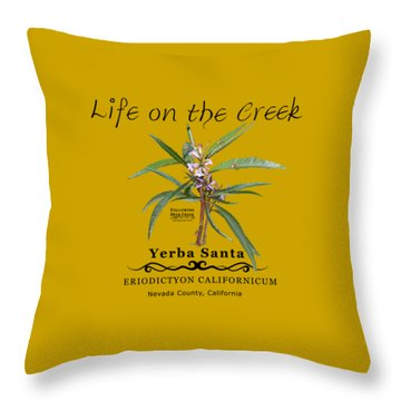 Yerba Santa Throw Pillow