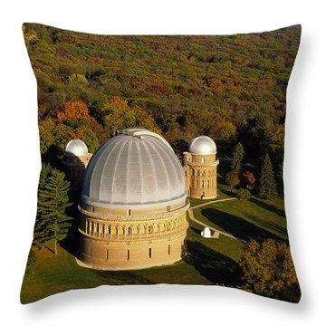 Yerkes Observatory - Aerial View - Lake Geneva Wisconsin Throw Pillow