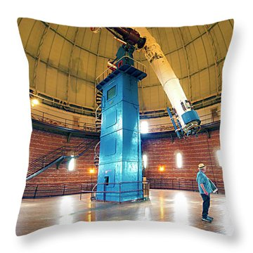 Throw Pillow featuring the photograph Yerkes Observatory Williams Bay Telescope  by Tom Jelen