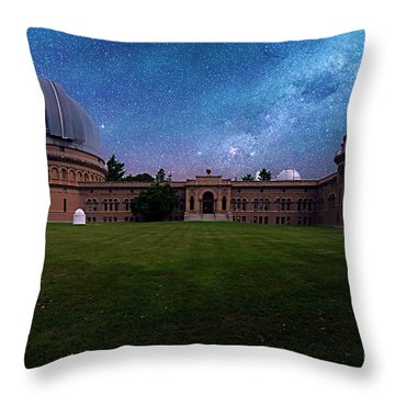 Throw Pillow featuring the photograph Yerkes Observatory Williams Bay by Tom Jelen