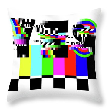 Throw Pillow featuring the digital art YES by Bee-Bee Deigner