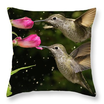 Throw Pillow featuring the photograph Yes We Are Twins by William Lee