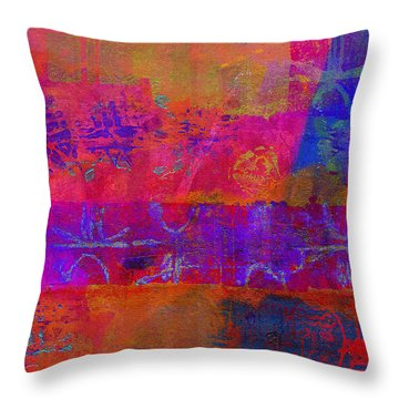Throw Pillow featuring the painting Yes We Can Spark Change by Angela L Walker