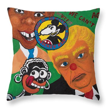 Yes We Can't Throw Pillow