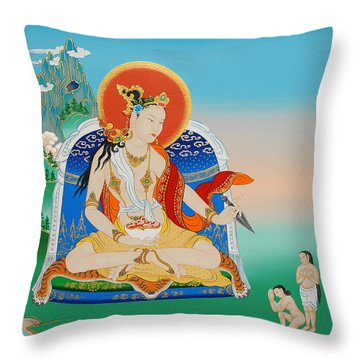 Yeshe Tsogyal Throw Pillow